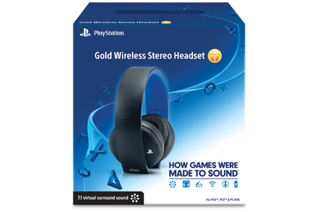 Gold Wireless Stereo Headset for PlayStation 4