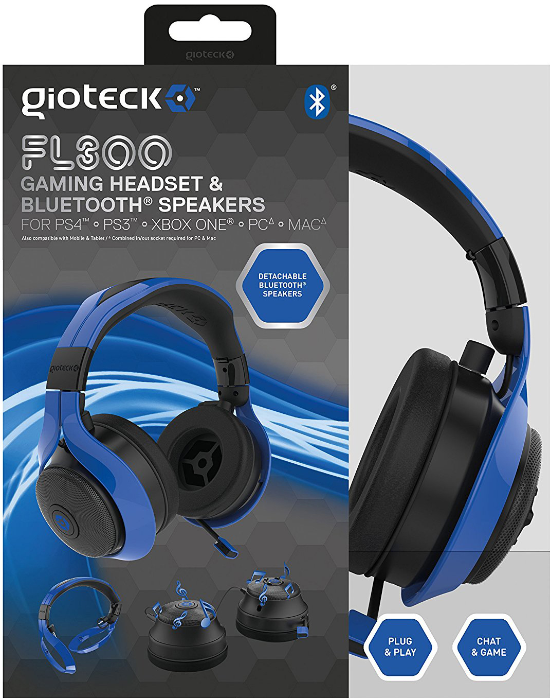 Gioteck FL300 Wireless  Stereo Headset