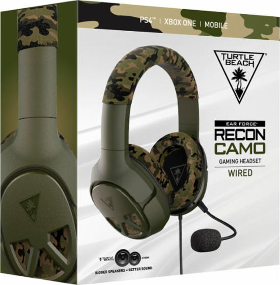 Turtle Beach - EAR FORCE Recon Camo Wired Stereo Gaming Headset for PS4 PRO, PS4, Xbox One, PC, Mac and Mobile