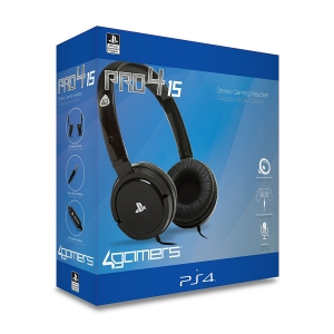 4Gamers Pro4-100, Gaming Headset, Wireless, Rotating Microphone, Blue