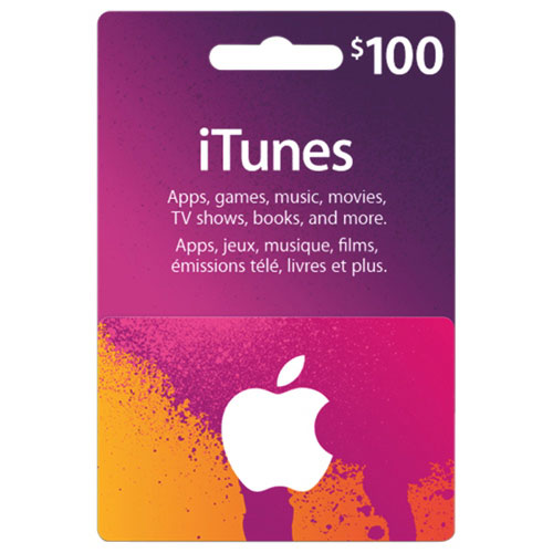 Apple iTunes Gift Card $100 (U.S. Account)