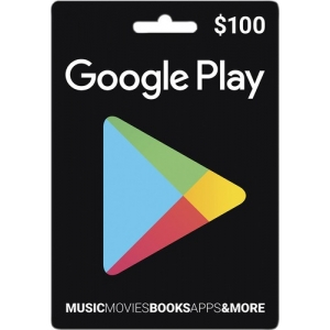 GOOGLE PLAY CARDS $100 FOR USA ACCOUNT  )