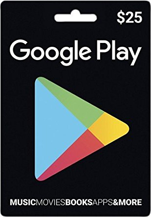 GOOGLE PLAY CARDS $25 FOR USA ACCOUNT )