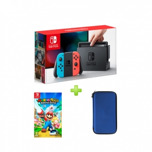 nintendo switch&MARIO RABBIDS KINGDOM BATTLE&Bag